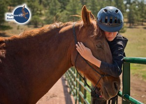 Tony showing his love and gratitude to his therapy horse, Bo. This is the 2nd summer Tony and Bo have spent together, their bond is evident.