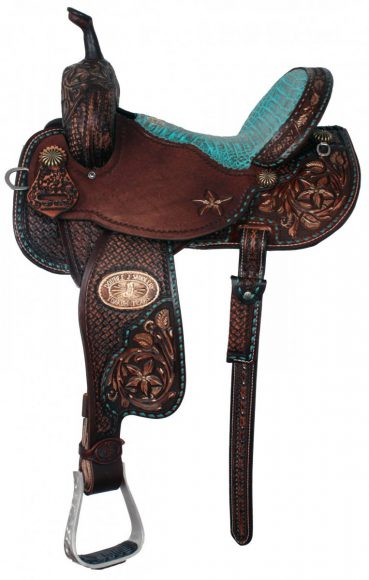 saddle with teal