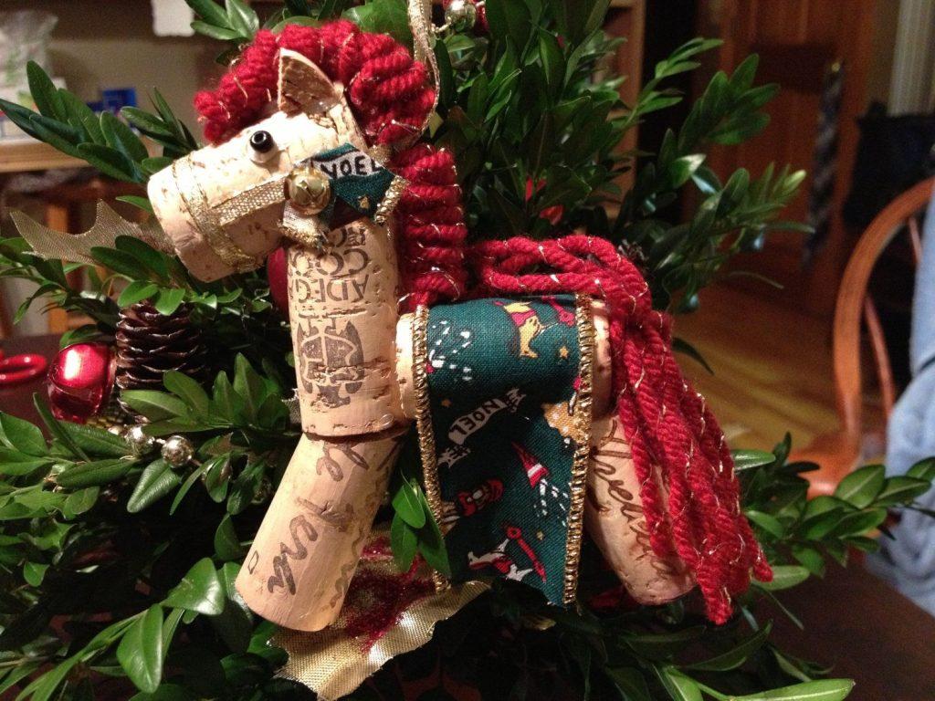 Noel Horse Cork ornament
