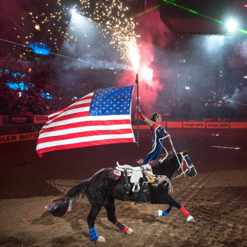 Trick Riding at the NFR